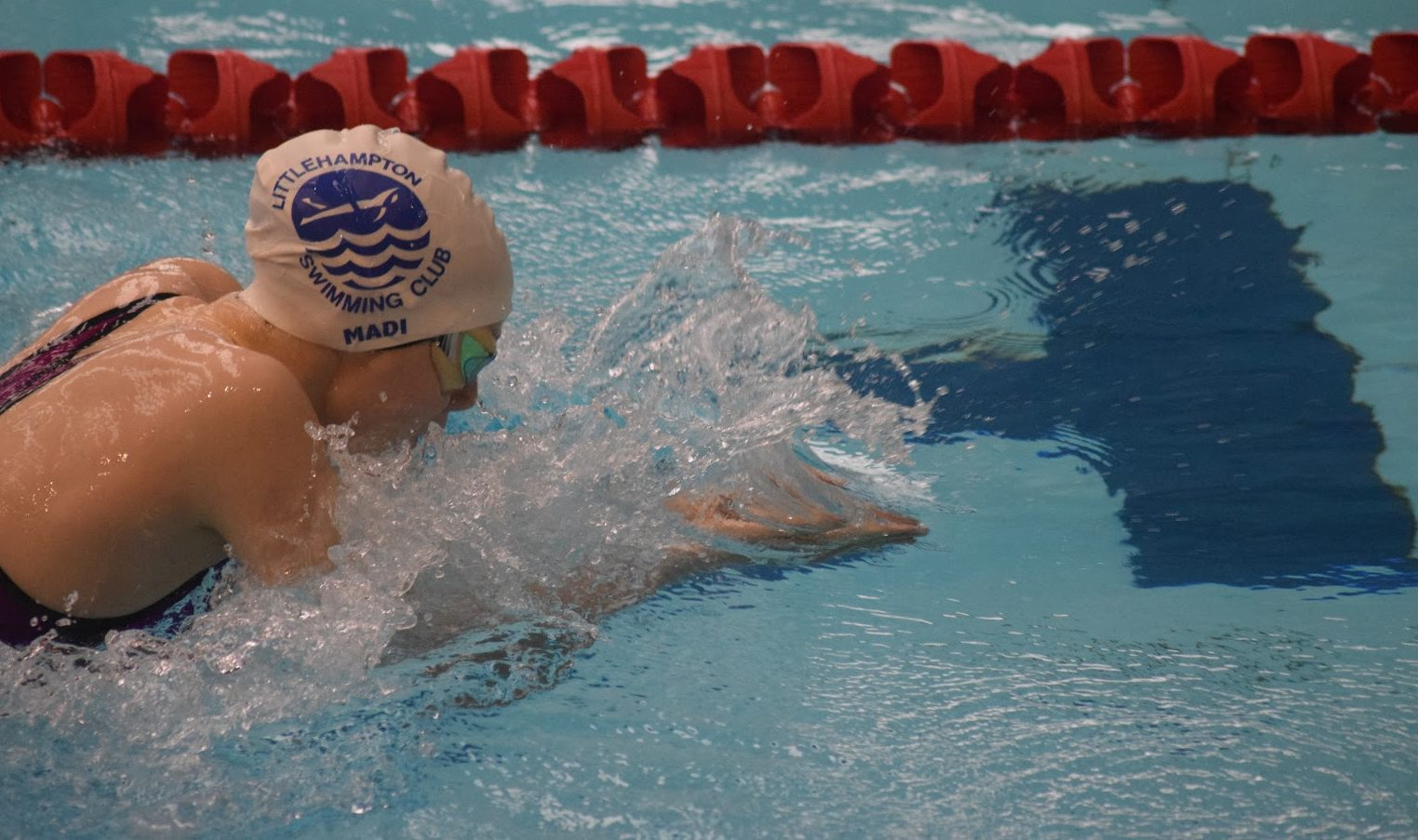 Madi Walker swims at the Sussex County Championships 2017 Final weekend