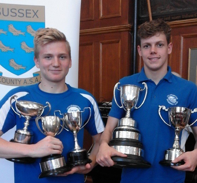 Lewis Smart and Charles Hodges Sussex County Championship Champs 2017